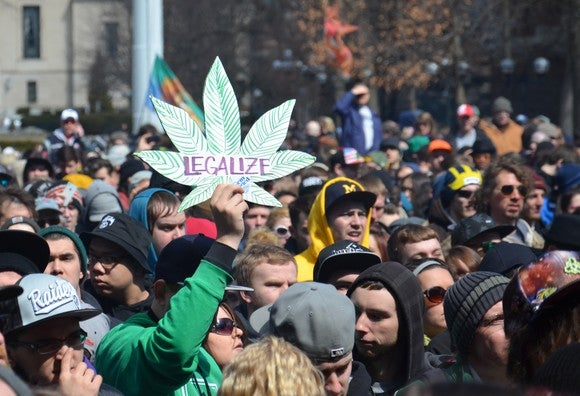 Marijuana legalization rally