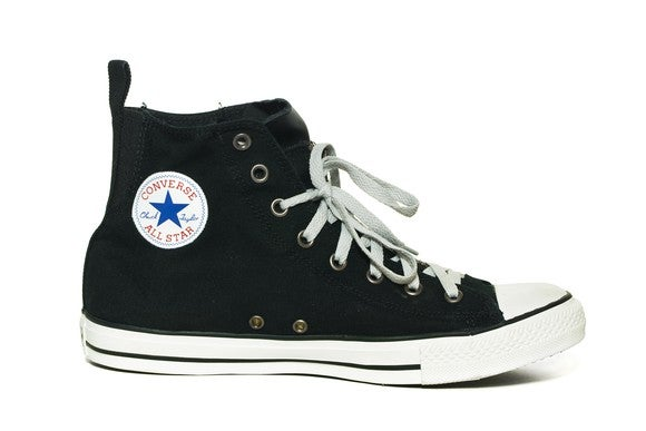 Converse All-Star black high top basketball shoes.