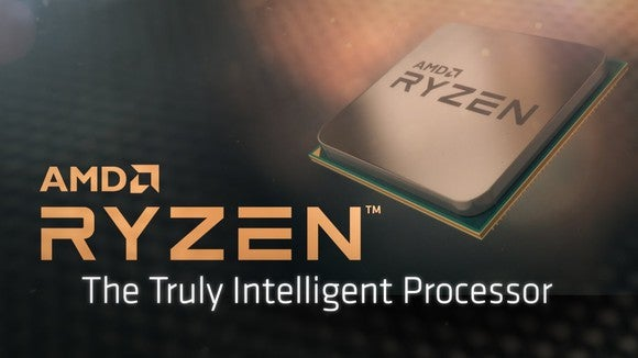 "Product banner for AMD Ryzen, ""The Truly Intelligent Processor."""