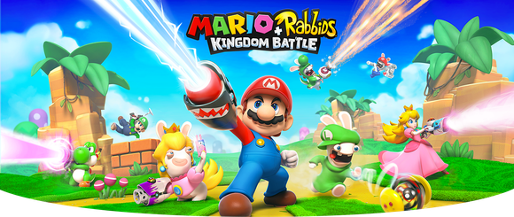 "Mario and Rabbids characters in ""Mario+Rabbids: Kingdom Battle."""