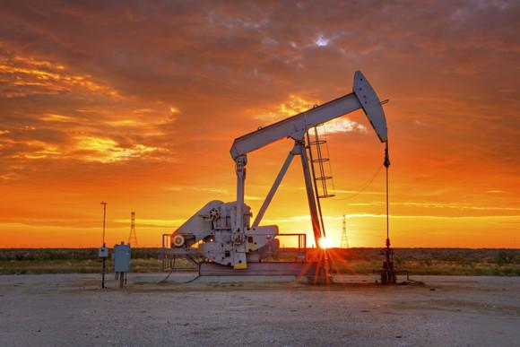 Oil pump during a beautiful Texas sunrise.