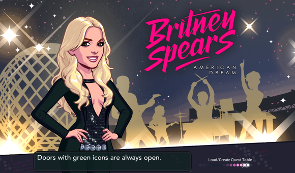 Britney Spears game by Glu Mobile.