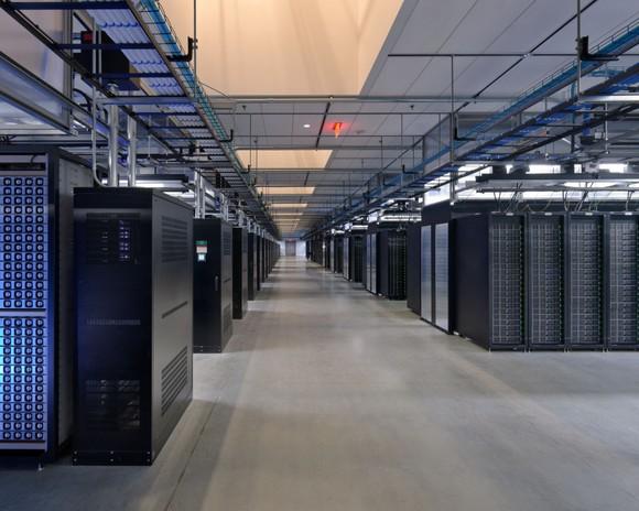 A server room at Facebook.