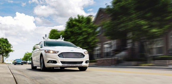 Image of Ford's self-driving Fusion.