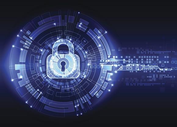 A digital rendering of a lock.