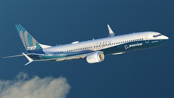 A rendering of the Boeing 737 MAX 10