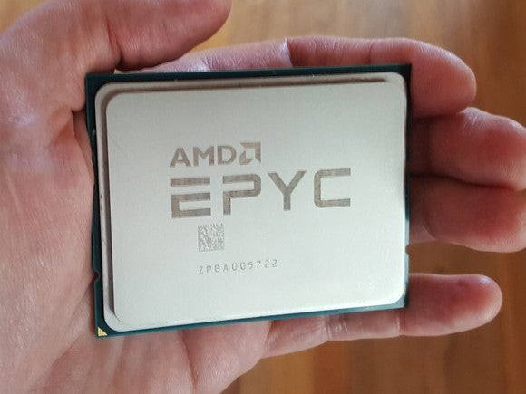 An AMD EPYC chip.