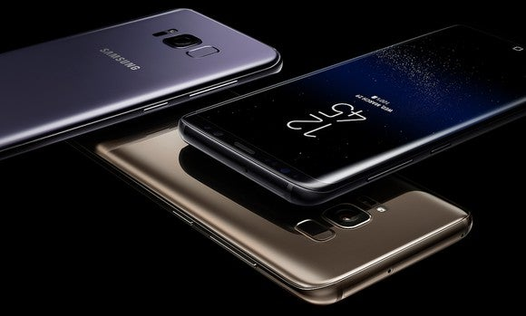 Three Galaxy S8 devices