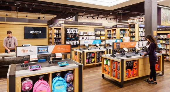 A bricks-and-mortar Amazon store.
