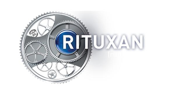 Rituxan logo with gears