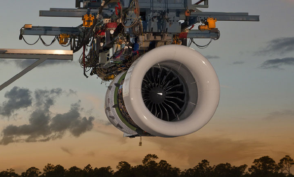 A geared turbofan engine