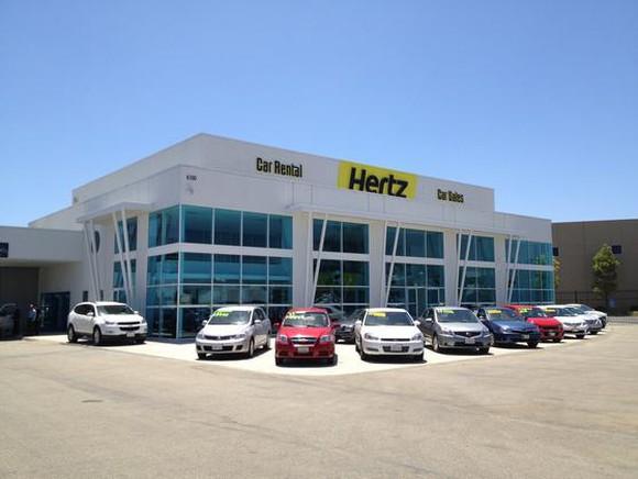 A Hertz Global rental lot.