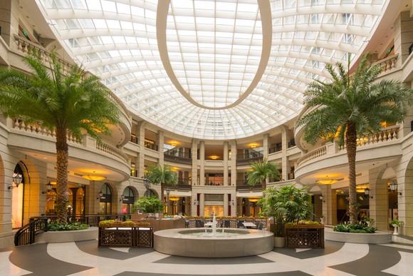 A mall atrium