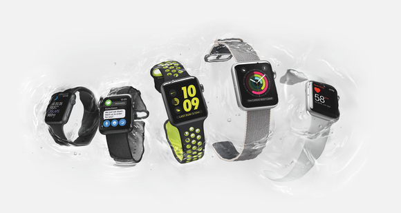Apple Watches submerged in water
