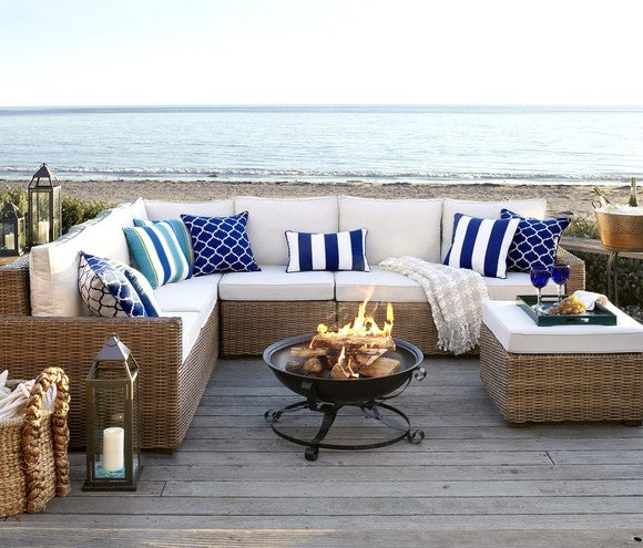 Sectional couch.