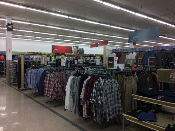 A Kmart apparel section