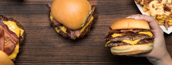 Shake Shack's double bacon cheeseburgers.