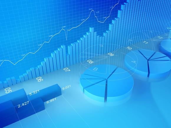 Rising stock chart.