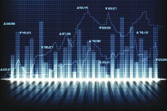 stock chart grayscale