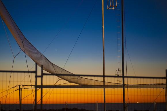 Trapeze safety net