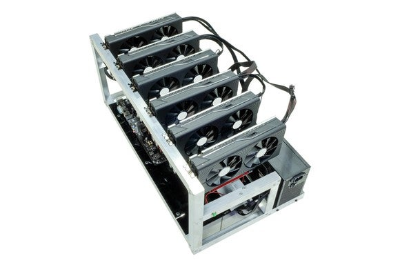 A mining rig for bitcoin.