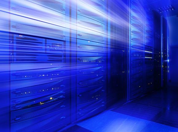 Stylized image of data center servers