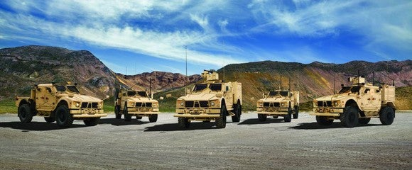 Oshkosh military vehicle lineup