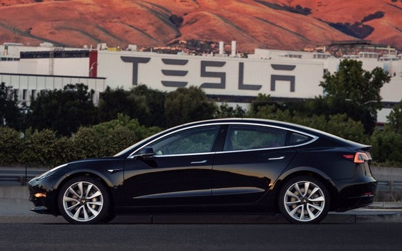 First production version of Tesla's Model 3