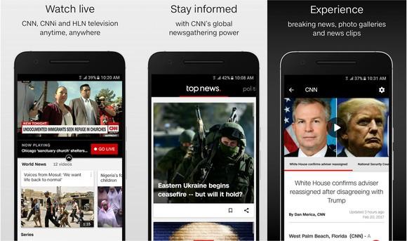 CNN's mobile app.