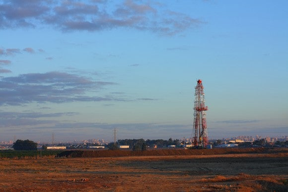 A drilling rig in Israel.