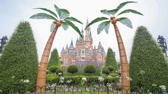 Shanghai Disneyland's Enchanted Storybook Castle.