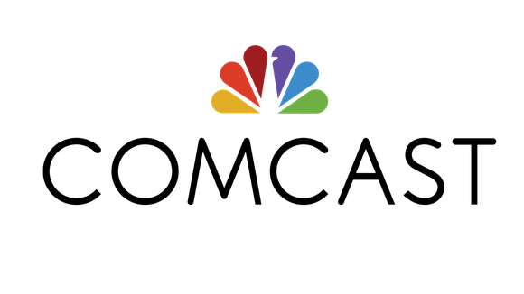 Comcast logo, featuring a peacock and the word COMCAST