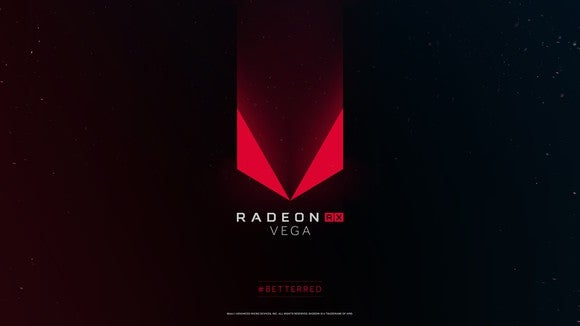The AMD Radeon RX Vega logo.