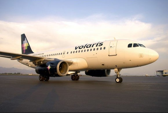 A Volaris plane on the tarmac