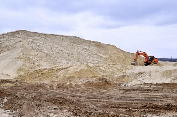 A sand mine