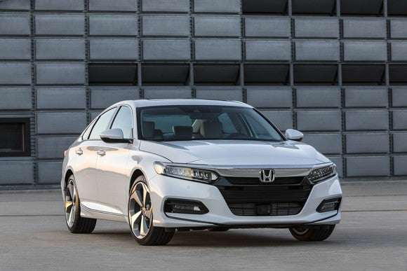 A front view of a 2018 Honda Accord sedan.