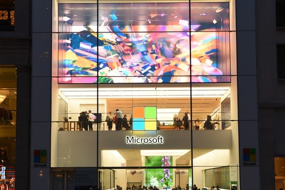 A Microsoft Store storefront