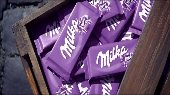Milka chocolate bars.