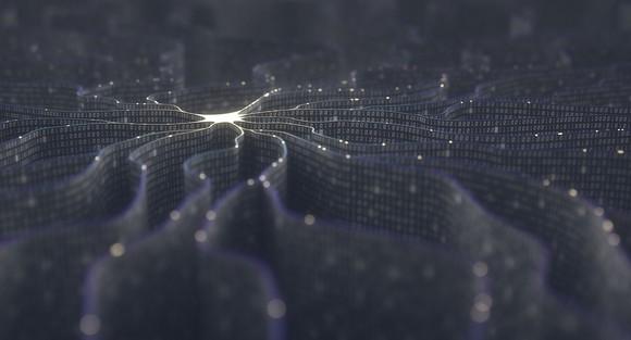 "Concept art for artificial intelligence ""neurons"""