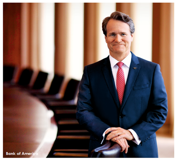 Brian Moynihan, Bank of America's Chairman and CEO.