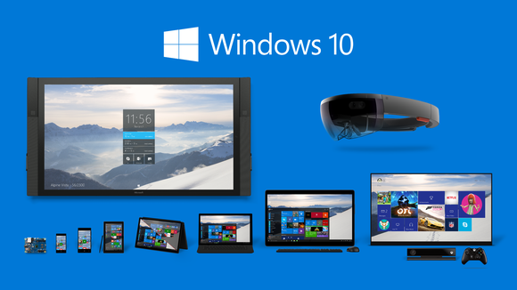 A variety of devices running Microsoft's Windows 10 operating system.