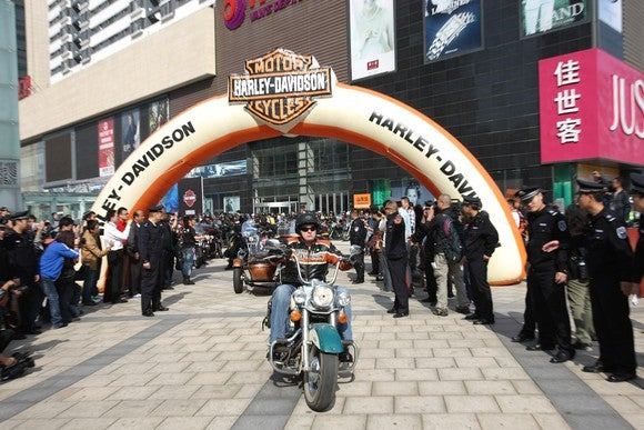 Harley rally in Asia.