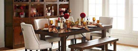 A Pier 1 dining set.