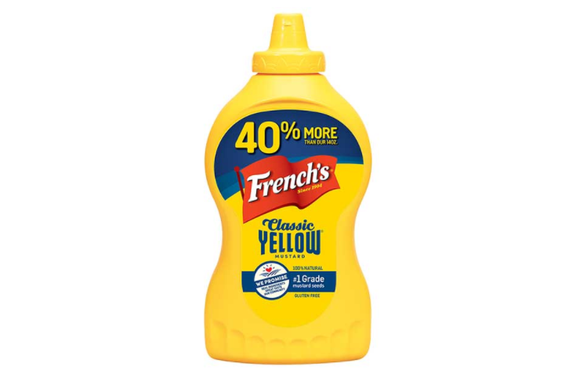 Bottle of French's Mustard.