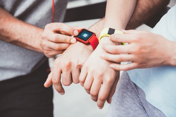 People using wearable devices