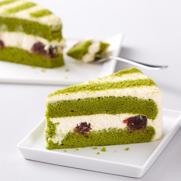 Green Tea Red Bean Mascarpone Cake
