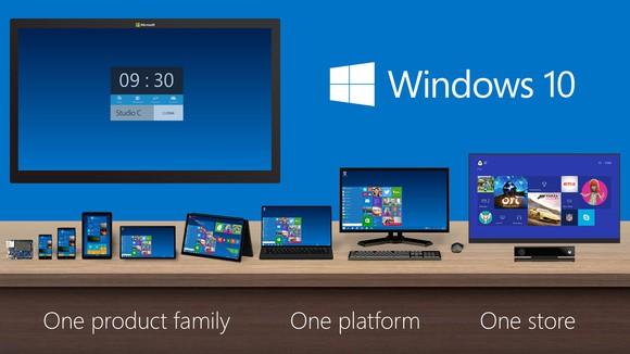 Windows 10 running across multiple platforms.
