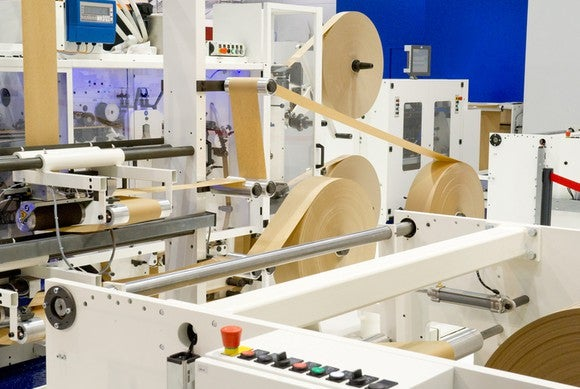 Industrial packaging machine manufacturing packing tape.