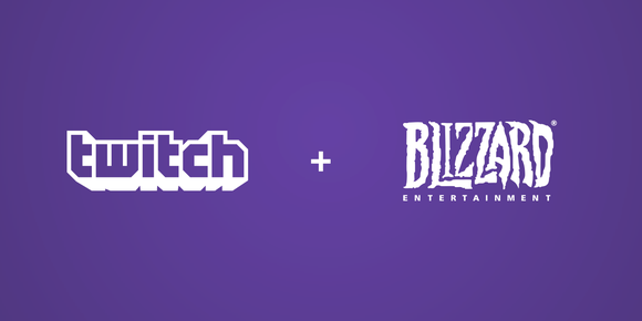 Purple background with Twitch and Blizzard Entertainment logos displayed in white.