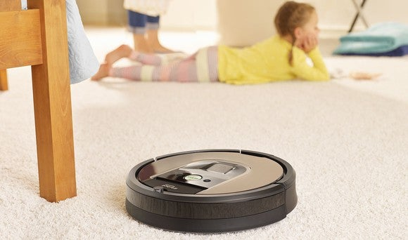 Roomba vacuum cleaner.